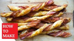 How To Make Cheese and Bacon Twists https://youtu.be/vRD-CbBQYns You can find the Cheese and Bacon Twists recipe http://www.taste.com.au/recipes/cheese-bacon-pastry-twists/dbc2ac98-44f4-49bc-b1fc-9ee61eb4c8a7