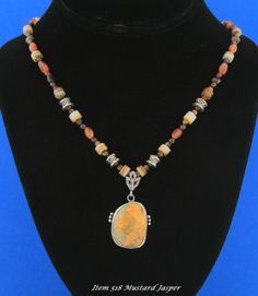 Mustard Jasper from Indonesia w/Designer Necklace to compliment Pendent This Item was   SOLD