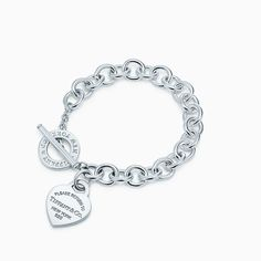 Return to Tiffany™Heart TagToggle Bracelet  : Return to Tiffany™ heart tag toggle bracelet in sterling silver, medium.