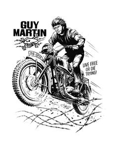 The Great Escape! - A fun drawing I did for Guy Martin as a tribute to the anniversary of the Great Escape in 1944 and the classic 1963 Movie. I drew Guy jumping the Triumph ridden by Steve McQueen and Bud Ekins in the film. Motorcycle Art, Bike Art, Motos Vintage, Guy Martin, Bike Illustration, Military Drawings, The Great Escape, Cycling Art, Cool Drawings