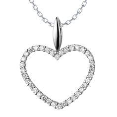 Clarissa Diamond Necklace: Rs.35,097    #Diamond #Necklace #Heart #Love #Gold #white