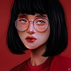 Expressive Female Portraits by Julia Razumova - Inspiration Grid Digital Art Girl, Digital Portrait, Portrait Art, Cartoon Logo, Illustration Girl, Anime Art Girl, Caricature, 30, Amazing Art