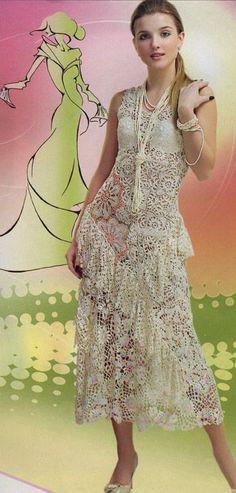 Платье, болеро вязанное в технике ирландского кружева на заказ Мастер г.Челябинск