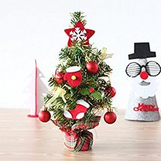 GAOYU Christmas Decorations Wooden Christmas Tree Desk Small Wooden Diy Mini Christmas Tree Ornaments , Scene Showcase The Great Green) - EverAfterGuide.com