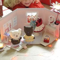 Love the dollhouse bears and clothes