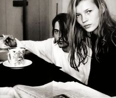 Johnny Depp and Kate Moss shot by Annie Leibovitz