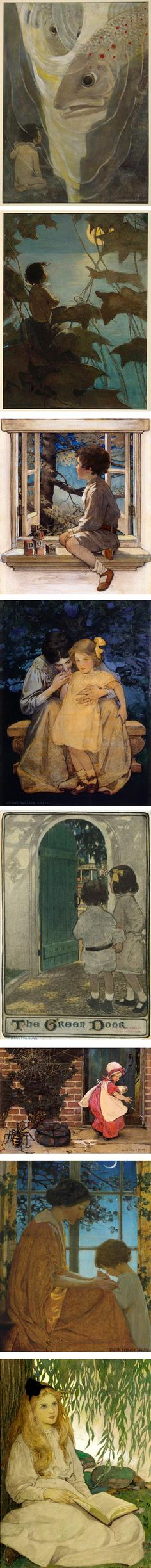 Jessie Willcox Smith was a prominent American illustrator from Philadelphia who studied at the School of Design for Women (now Moore College of Art) and the Pennsylvania Academy of the Fine Arts, where her instructors included Thomas Eakins.