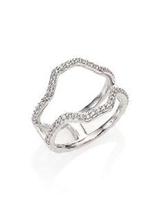 Phillips House - Hero Diamond & 14K White Gold Frame Ring