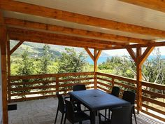 Blick aufs Meer von der Mobilheim Terrasse, Camping Nevio.