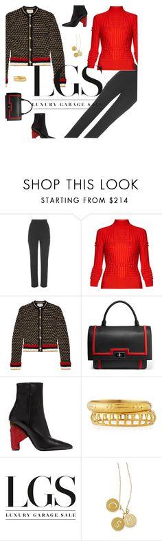 """Gucci Cardigan"" by fashionmonkey1 ❤ liked on Polyvore featuring Martin Grant, Mary Katrantzou, Gucci, Givenchy, Balenciaga, Ashley Pittman, Marni and Mark & Graham"