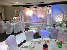 The Woodland Suite ready for the wedding of Zakiyyah and Waseem. The stage is the perfect location for a canopy or Mandap