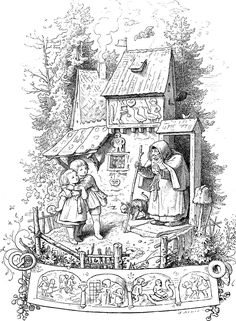 §§§ . Hansel and Gretel ~ Ludwig Richter 1800s