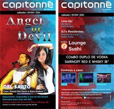 Show com a dupla Daniel del Sarto e Sara Anders na festa Angel or Devil, neste sábado, 1° de setembro!