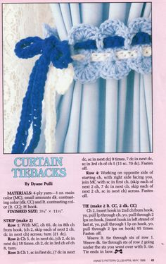Curtain Tie Back Crochet