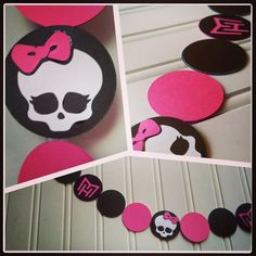 5 ft Monster High Inspired Party Garland by CornerstonePaperCo, $11.00
