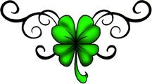 I have been wanting a shamrock tattoo for years, and I found this one that I really like.  Pretty!