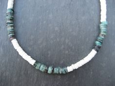 Natural White Puka Clamshell Necklace with by SandboxSouvenirs