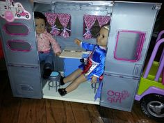 My American Girl Doll Blue Bathroom Vanity Set New Ag