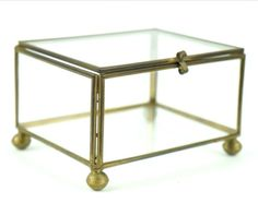 Vintage Brass and Clear glass display box/show by BubbleKingdom, $13.95