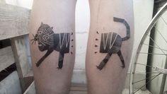 #Cat #tattoo by #gabrielbendandi