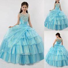 2016 Baptême Princesse fille de fleur robe de bal robe desoirée de mariage 2-14   eBay