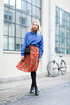 Granny chic and color contrasting <3 outfit from www.nemesisbabe.dk