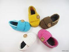 Baby booties crochet loafers light Crochet Baby by BUBUCrochet
