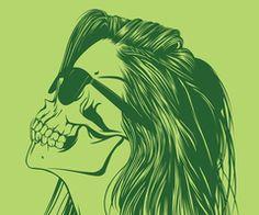 Creative Illustration, Skull, Girls, Pt, and 1 image ideas & inspiration on Designspiration Disney Stich, Pop Art Vintage, La Danse Macabre, Tumblr Hipster, Hipster Art, Tumblr Art, Girl Skull, Drawn Art, Jasper Johns