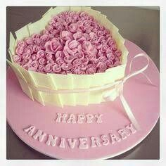 love this as a communion cake Happy Marriage Anniversary Cake, Anniversary Cake Designs, Happy Wedding Anniversary Wishes, Wedding Anniversary Photos, Anniversary Greetings, Romantic Anniversary, Anniversary Quotes, Pretty Cakes, Beautiful Cakes