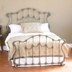 Someday I will replace my antique full size wrought iron bed for and updated king or queen wrought iron one...