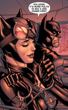 I've always loved the sexual tension between Catwoman and Batman.