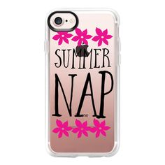 Summer nap and pink flowers - iPhone 7 Case And Cover ($40) ❤ liked on Polyvore featuring accessories, tech accessories, iphone case, pink iphone case, apple iphone case, flower iphone case, clear flower iphone case and iphone cover case