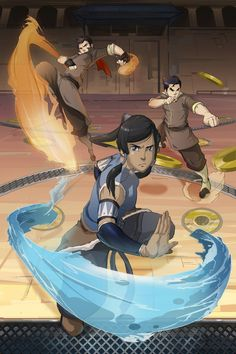 In the ring #Mako #Korra #Bolin