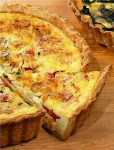 Corn and Tomato Quiche Show off summer produce at its height for your next brunch get-together. Creme fraiche adds a creamy tang to this quiche. Breakfast Quiche, Breakfast Dishes, Breakfast Recipes, Savory Breakfast, Quiches, Basic Quiche Recipe, Spinach Quiche Recipes, Quiche Lorraine Recipe, Gastronomia