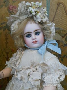 ~~~ Very Beautiful French Bisque Bebe by Etienne Denamur ~~~