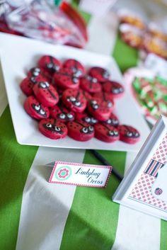 Ladybug Oreos #ladybug #oreos - Click image to find more Weddings Pinterest pins