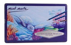 Mont Marte Watercolour Pencils consist of thick, soft leads in 36 vibrant colours. May be used dry for regular coloured pencil techniques or used with water for a vast array of effects. Pastel Pencils, Watercolor Pencils, Watercolour Painting, Colored Pencils, Watercolors, Art Shed, Art And Craft Materials, Drawing Journal, Vibrant Colors