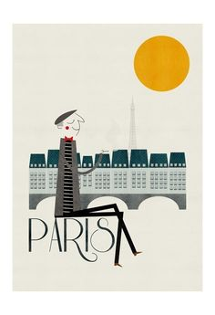 #print #poster #design #illustration #retro #inspiration #paris #man