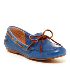 Born // Tamala Slip-On Shoe - blue, tan Handcrafted Born shoes never been worn. Still in original box. Leather upper in a bright blue color. A few scuffs from being in storage so long. Great grip on the bottom of the shoes. Leather shoe string and extra cushion in the sole. Born Shoes Flats & Loafers