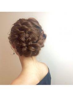 Playa de Sabon パーティーアップ Date Hairstyles, Braided Hairstyles, Wedding Hairstyles, Cool Hairstyles, Hair Arrange, Festival Hair, Fries, Wedding Photo Inspiration, Bridesmaid Hair