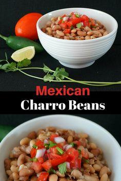 Mexican Charro Beans Recipe| Charro Beans| Frijoles Charros| Charro Bean Soup|Slow Cooker Charro Beans| Barrocho Beans