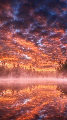 lake_steam_fog_clouds_heavy_sky_shadows_reflection_terribl… | Flickr