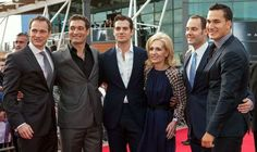 Men of Steel... Superman Henry Cavill attends Jersey film premiere with his brothers and mother| Showbiz | News | Daily Express