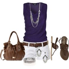 A fashion look from May 2013 featuring hot pants, brown shoes and brown purse. Browse and shop related looks. Passion For Fashion, Love Fashion, Womens Fashion, Fashion Trends, Ladies Fashion, Cool Outfits, Casual Outfits, Casual Clothes, Looks Cool