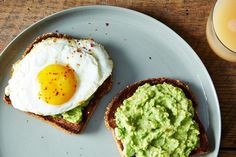"""""""Moroccan Guacamole"""" Toasts with Fried Egg"""