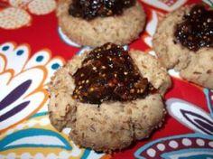 Flax & Fig Thumbprint Cookies