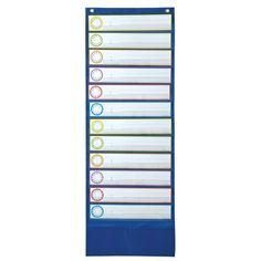 Deluxe Scheduling Pocket Chart, Blue, CD-158031