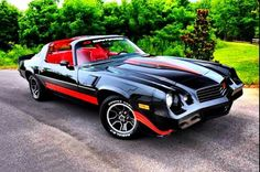 1981 Camaro z28 black and red