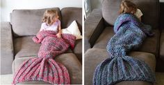 Unleash Your Inner Mermaid With This Cozy Fish Tail Blanket