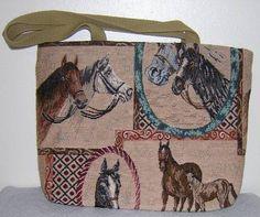 Beautiful Horse Tapestry Reversible Fabric Tote Bag